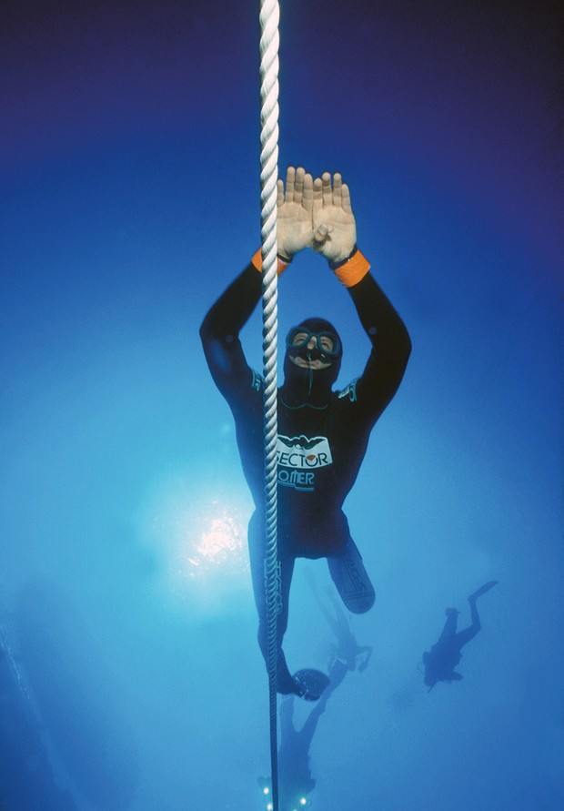 Top 10: Deepest freediving world records - Umberto Pelizzari © Getty Images
