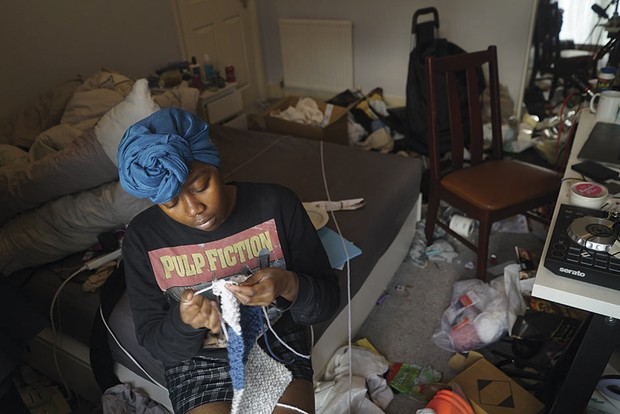 Untangling is a self-portrait depicting how the forced isolation of lockdown exacerbated her depression and confined Jameisha Prescod to her room © Jameisha Prescod/Wellcome Photography Prize 2021