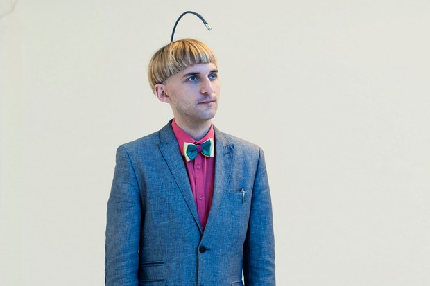 Neil Harbisson, who was born colour blind, has an antenna implanted into his head that lets him 'hear' in colour. © David Vintiner