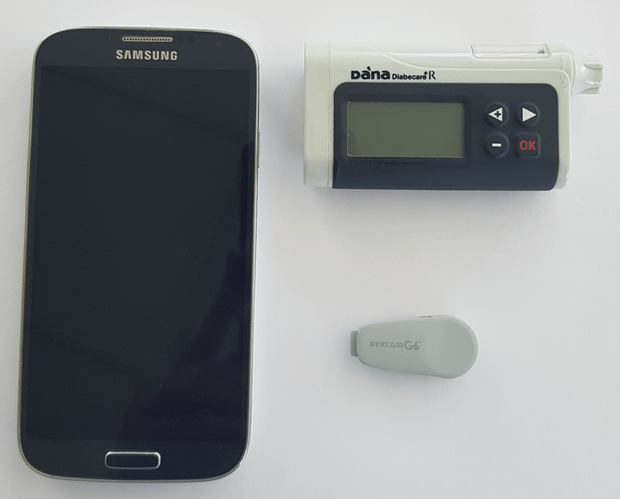 These three components make up the artificial pancreas being used by patients with type 2 diabetes © University of Cambridge