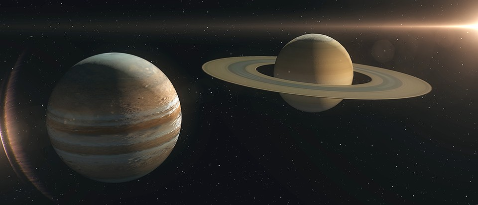 Here's what would happen if two gas planets like Jupiter and Saturn collided