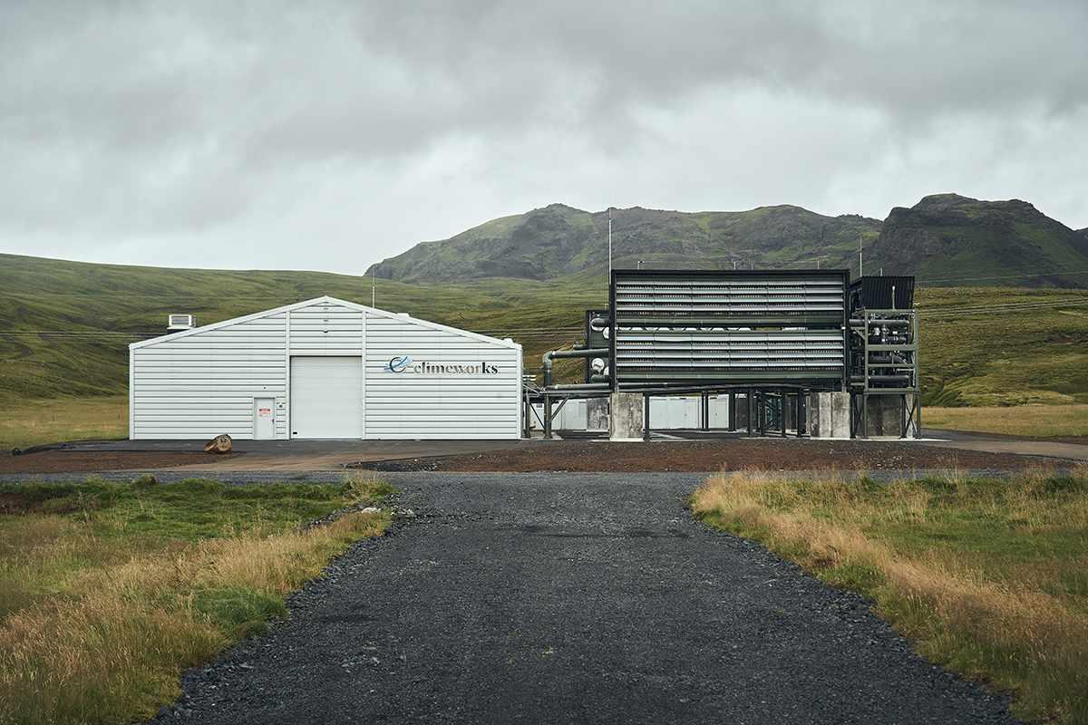 Una vista de la planta de Orca en Islandia.  Foto de Climeworks