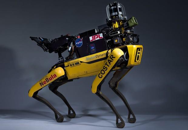 This four-legged explorer prototype combines autonomy