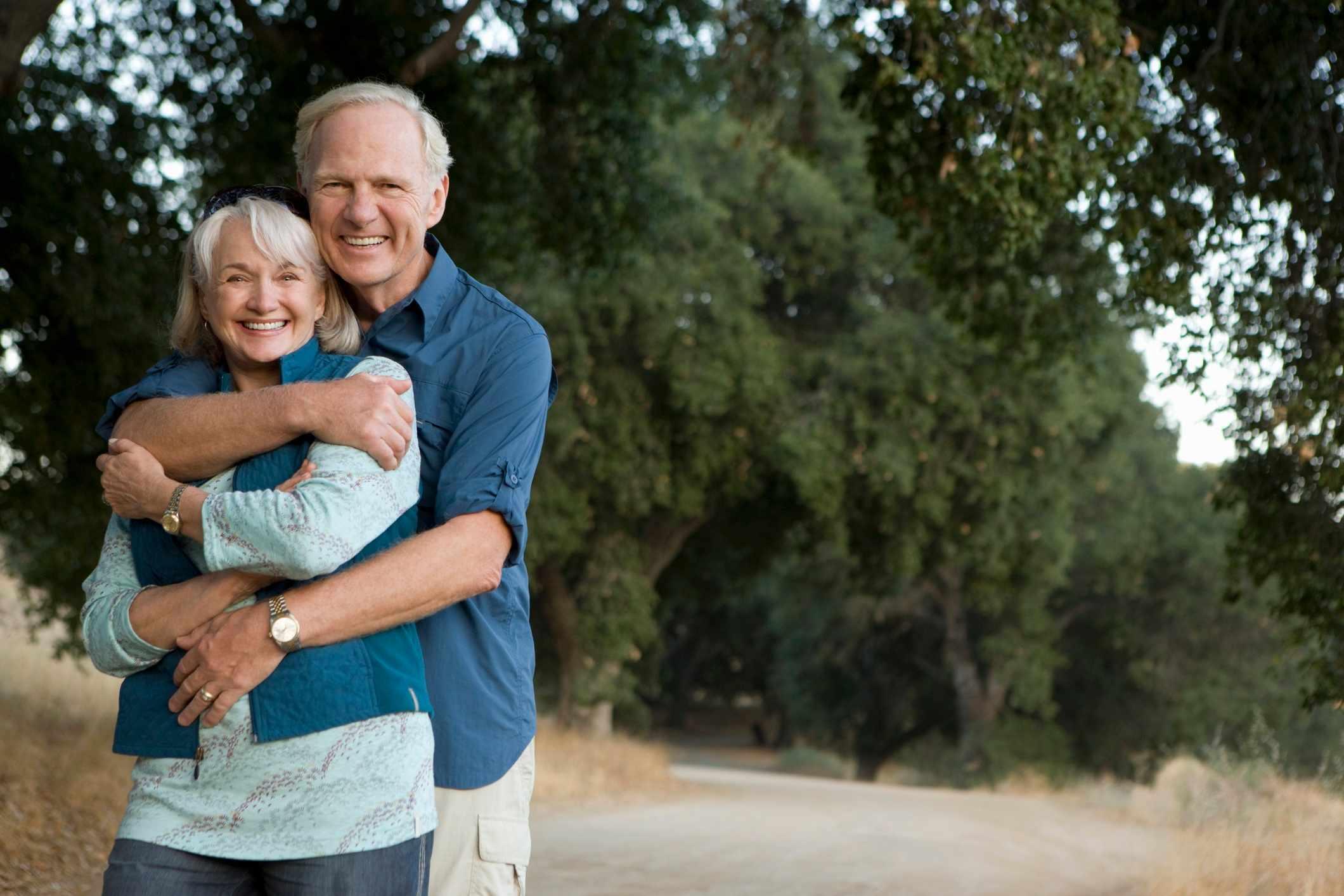 Portrait of active mature couple.