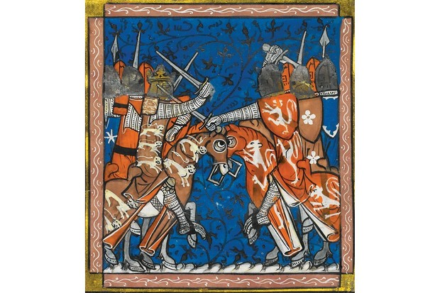 Royal at arms: In a 14th-century manuscript, Henry III (left) is shown fighting his nobles during the Second Baron's War (1264–67). This was both a revolutionary war and, from the perceptive of Henry's foes, a religious conflict. (Image by Bridgeman)