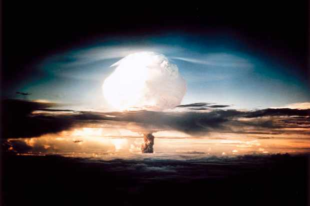 A mushroom cloud produced by the explosion of a hydrogen bomb during Operation Ivy, an American nuclear test that took place in 1952. (SSPL/Getty Images)