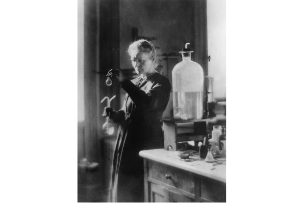 Polish born French physicist Marie Curie (1867 - 1934) in her laboratory. (Photo by Hulton Archive/Getty Images)