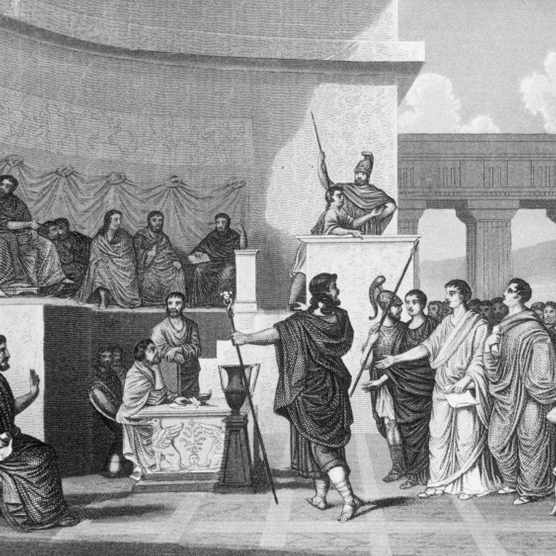 Illustration of a Session of the Roman Senate