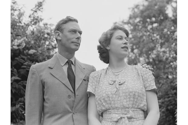 King George VI and his daughter Princess Elizabeth