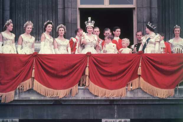 The newly crowned Queen Elizabeth II