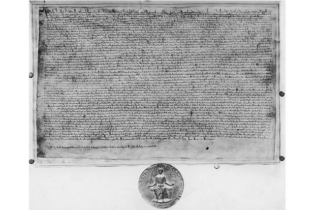 A copy of Magna Carta and the seal of King John.