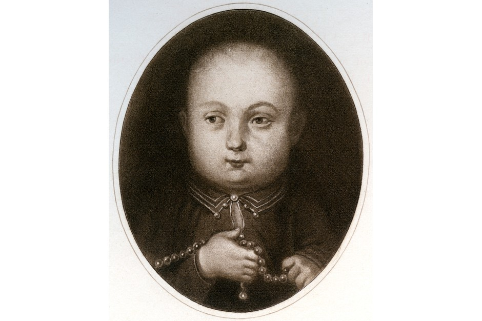 Henry, who would would later accede to the throne as Henry VIII, as a baby. (Photo by The Print Collector/Print Collector/Getty Images)