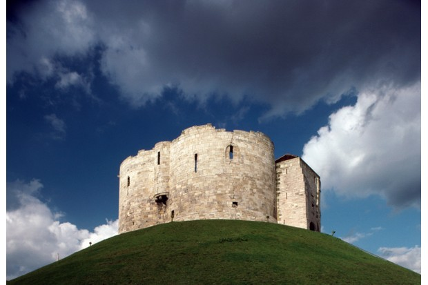 Cliffords tower, built by Henry III between 1250-1275, rear view, York, North Yorkshire, United Kingdom, 13th century
