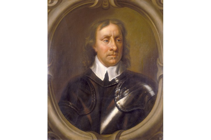 A portrait of Oliver Cromwell