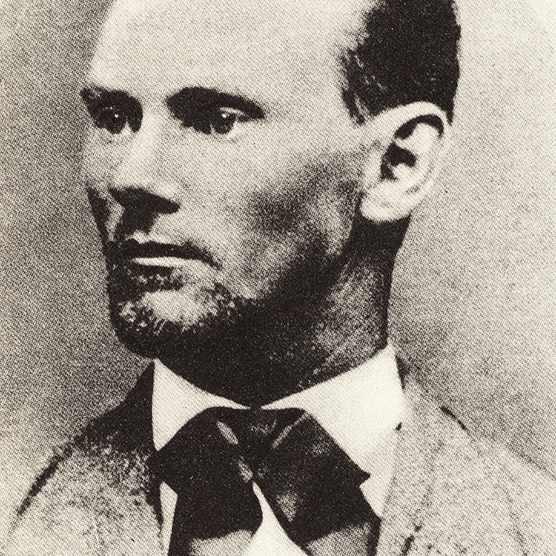 Jesse Woodson James (1847-1882), American outlaw and bank and train robber who, with his brother Frank, was a member of the James-Younger gang. (Photo by Universal History Archive/Getty Images)