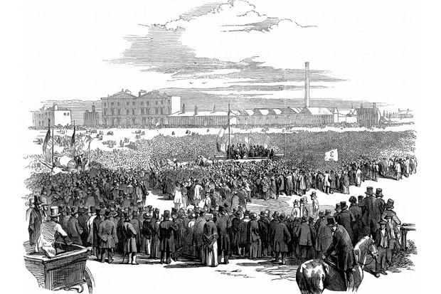 Mass meeting of Chartists on Kennington Common, London, 10 April 1848