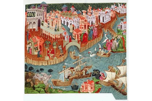 Venice shown in a c14th-century manuscript