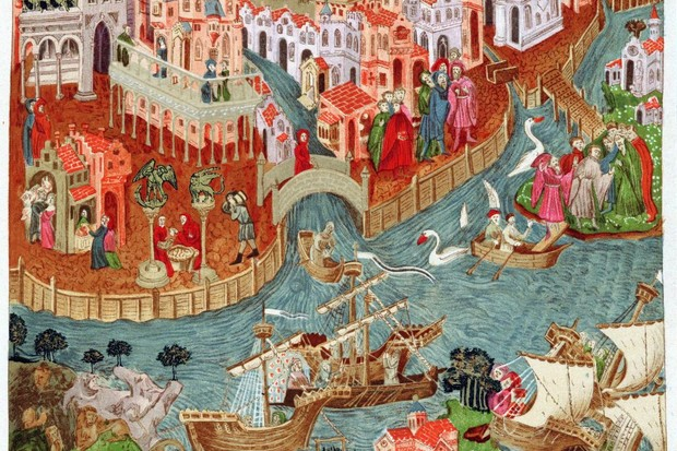 Venice shown in a c14th-century manuscript