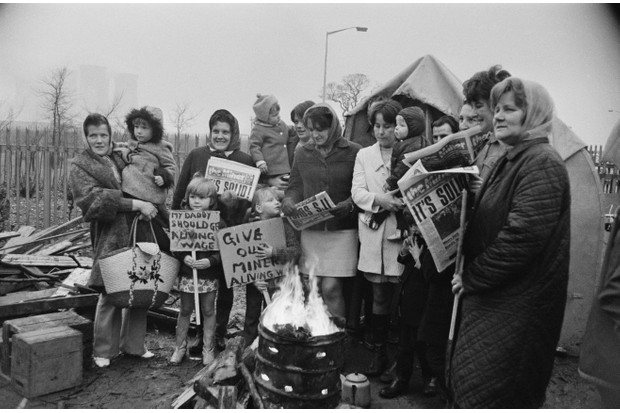 Economic, political and communications revolutions transformed Europe in the late 20th and early 21st centuries. Pictured are families of British miners on a picket line outside a Staffordshire power station during the miners' strike of 1972. (Photo by R Viner/Daily Express/Hulton Archive/Getty Images)