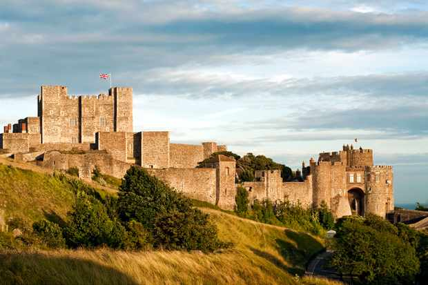 The medieval castle in the English county of Kent