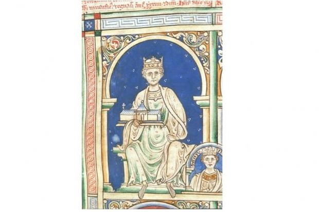 Henry II of England (From the Historia Anglorum, Chronica majora). Artist: Paris, Matthew (c. 1200-1259)