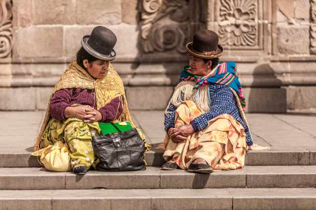 Two women from South America. Six centuries ago South American civilisations matched the west in some respects. (Getty Images)