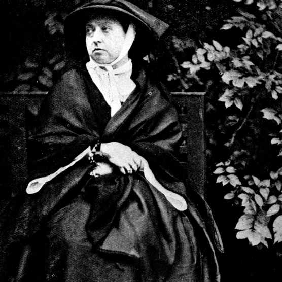 circa 1862:  Queen Victoria (1819 - 1901) during her period of mourning after the death of her husband Albert, Prince of Saxe-Coburg-Gotha.  (Photo by Hulton Archive/Getty Images)