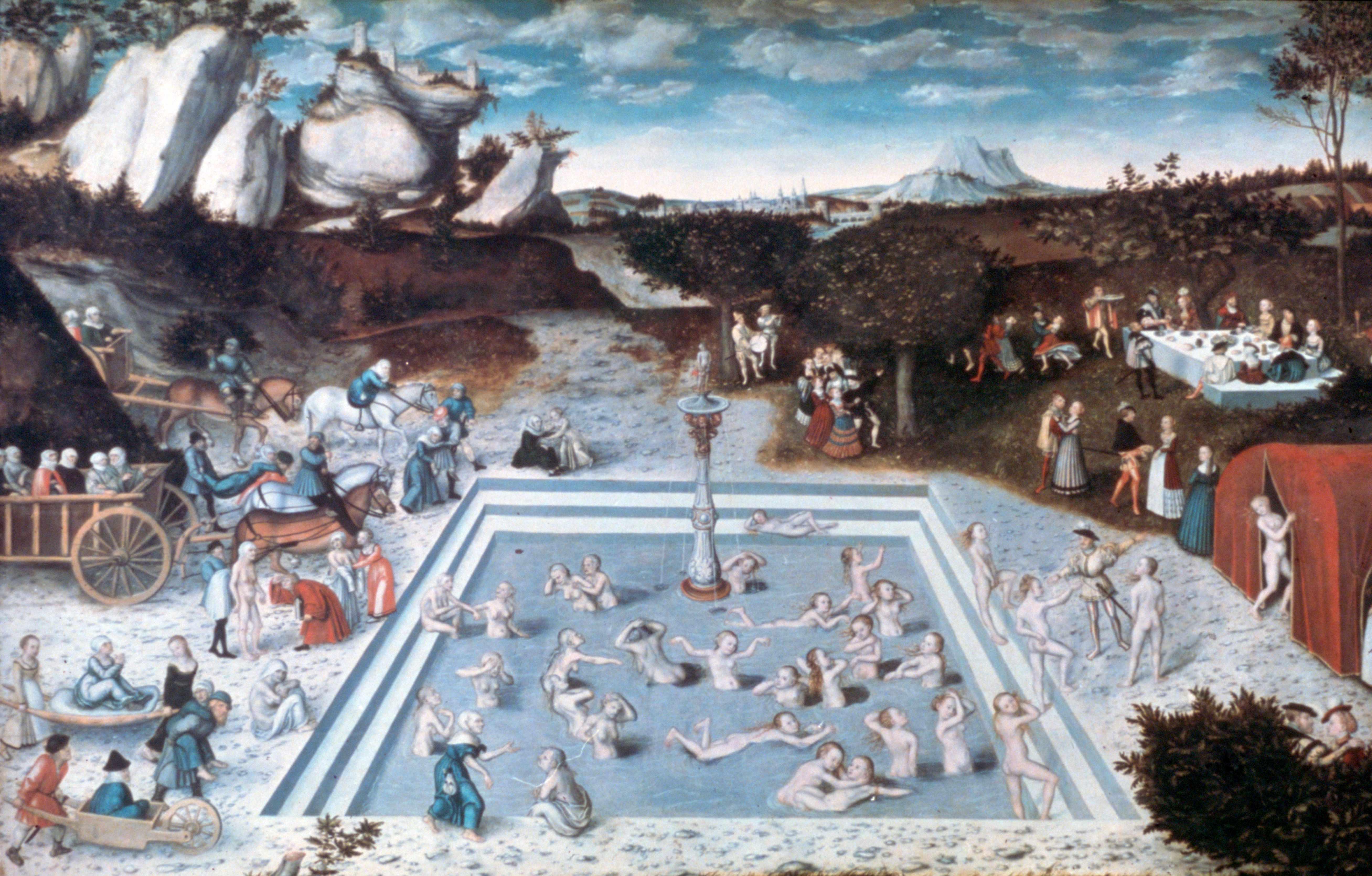 'The Fountain of Youth', 1546. Artist: Lucas Cranach the Elder