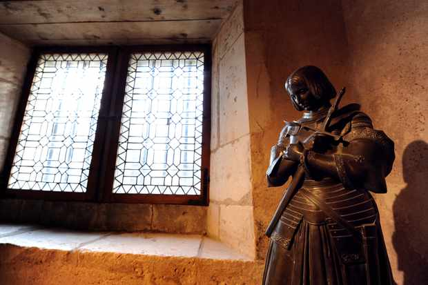 A statue of Joan of Arc in the home where she is thought to have been born, in Domrémy-La-Pucelle, eastern France. (PATRICK HERTZOG/AFP/Getty Images)