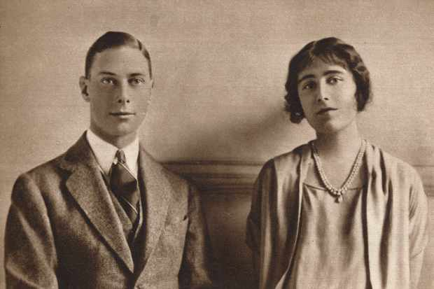 Prince Albert and Lady Elizabeth Bowes-Lyon, his deeply supportive wife to be, pictured in January 1923. (The Print Collector/Getty Images)