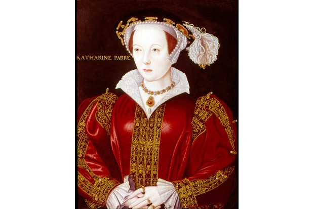 Catherine Parr (1512-1548). Sixth and last wife of Henry VIII. Anonymous portrait c1545 .
