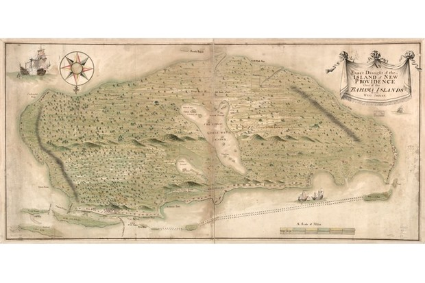 Vintage map of the Bahamas. (Library of Congress)