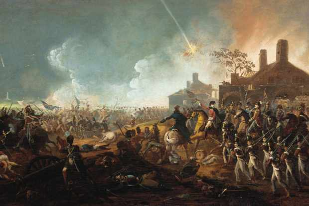 "A painting depicting the Duke of Wellington at the battle of Waterloo. ""Wellington's victories at Roliça and Vimeiro in 1808 were the first significant defeats inflicted upon the French emperor's armies in Europe,"" says Saul David. (Fine Art Images/Heritage Images/Getty Images)"