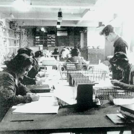 Staff hard at work at Bletchley Park. The people who worked here did so under conditions of utmost secrecy, and with little idea of how their work slotted into the grand scheme of things. (Photo by SSPL/Getty Images)