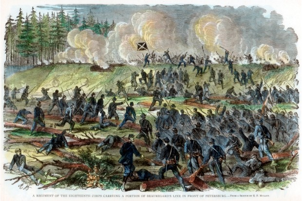The siege of Petersburg, which lasted from June 1864 until March 1865. (The Print Collector/Print Collector/Getty Images)