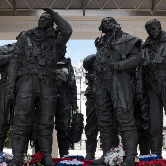The Bomber Command Memorial in London, which was unveiled by Queen Elizabeth II in 2012. (Photo by Epics/Getty Images)