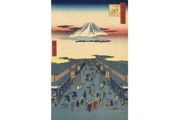A 19th-century woodblock print of Edo, now known as Tokyo. (GraphixaArtis/Getty Images)