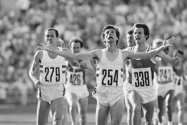 Sebastian Coe, a track and field athlete, winning the 1,500 metres gold at the 1980 Moscow Olympics. (Bettmann via Getty Images)