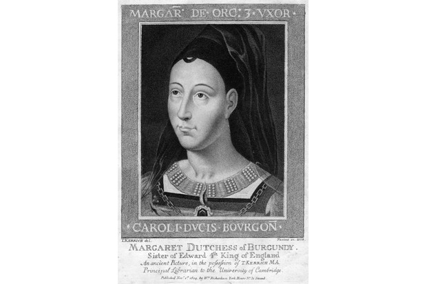 """Margaret 'of Burgundy': an adroit plotter reportedly driven by """"insatiable hatred and fiery wrath"""" . (Hulton Archive/Getty Images)"""