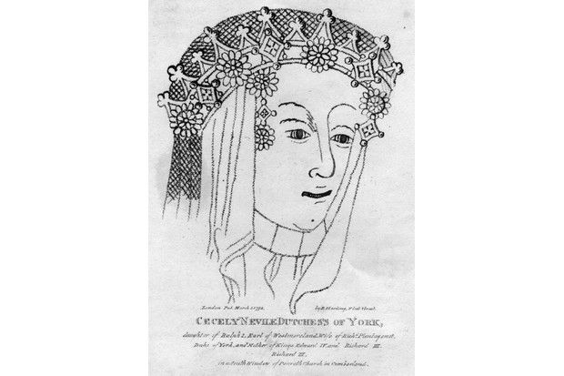 A line engraving of Cecily Neville, who lived to the then-grand old age of 80. (Hulton Archive/Getty Images)