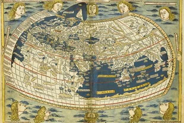 Ptolemy World map. Artist: Germanus, Donnus Nicolaus (ca. 1420-ca. 1490)