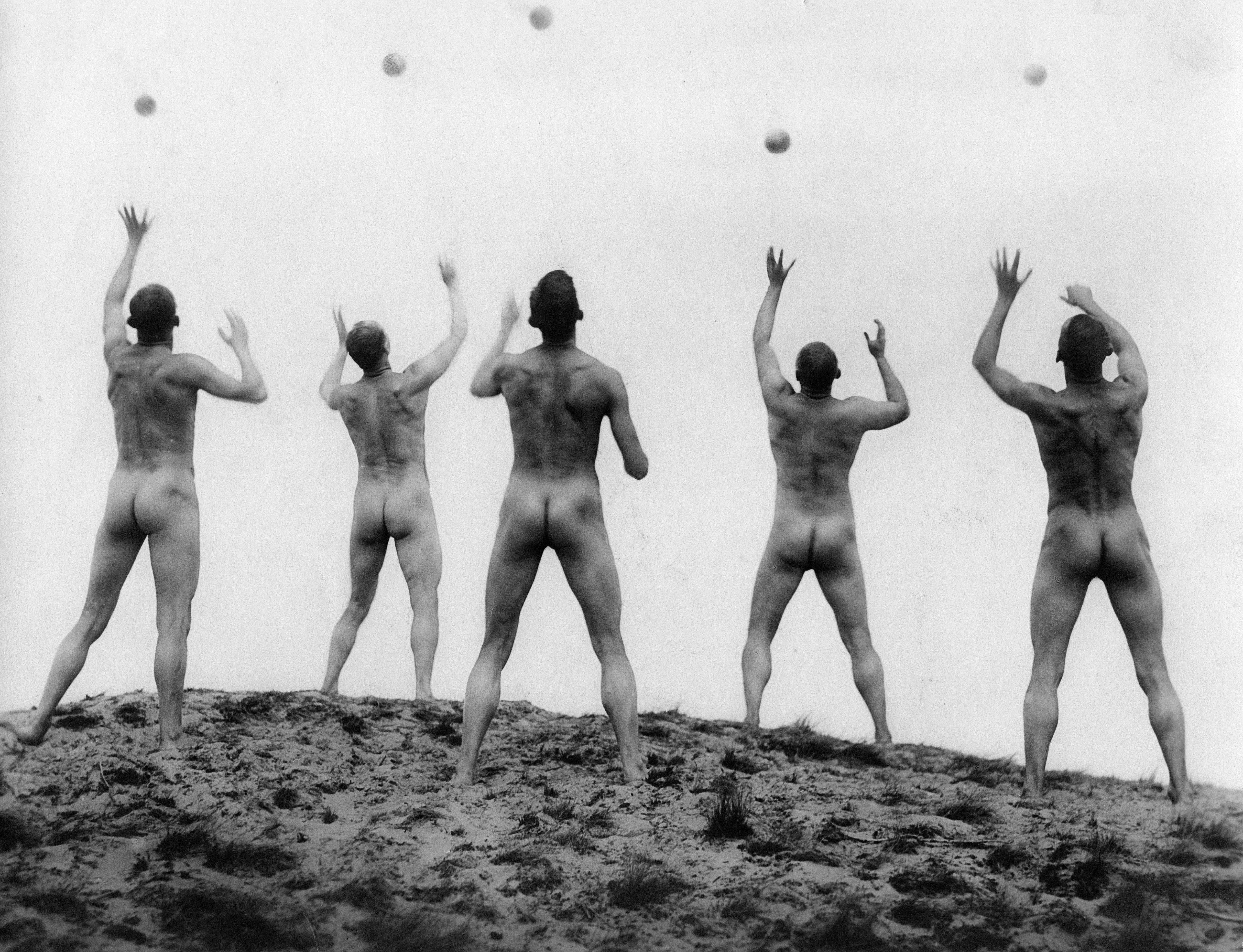 A scene from the German film 'Ways to Strength and Beauty', 1925. (Ullstein Bild via Getty Images)