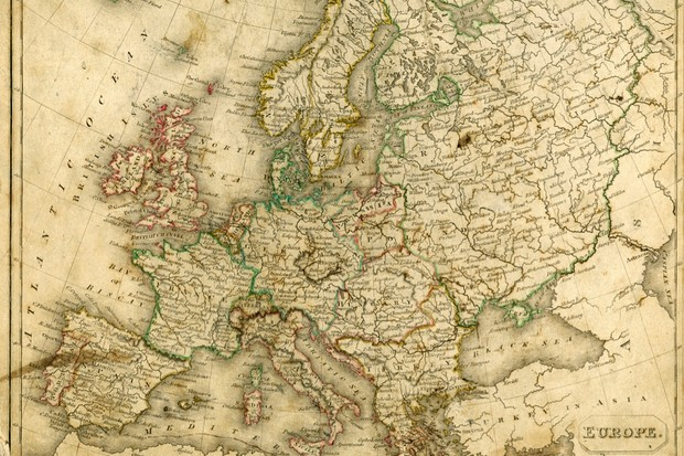 A vintage map of Europe. One of the hardest things for small nations to accept is that they're not in control over their own destinies, says Mark Mazower. (Getty Images)