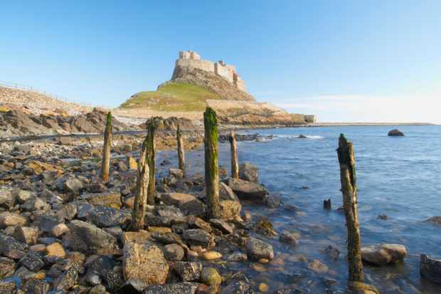 A view of Lindisfarne Castle, where a former priory became a naval depot. (Getty Images)