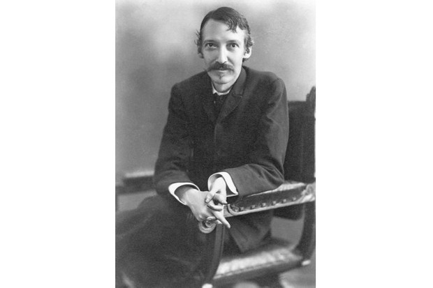 Robert Louis Stevenson, the 19th-century English poet and novelist perhaps best known for his books 'Treasure Island' and the 'Strange Case of Dr Jekyll and Mr Hyde'. Photo by H. Walter Barnett, c1890. (Getty Images)