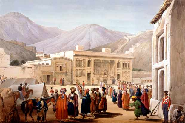 Concerned that Russia was expanding its influence in the region, Britain invaded Afghanistan in 1839, ousting ruler Dost Mohammad and replacing him with Shah Shuja, who had been king from 1803–10. (Ann Ronan Pictures/Print Collector/Getty Images)
