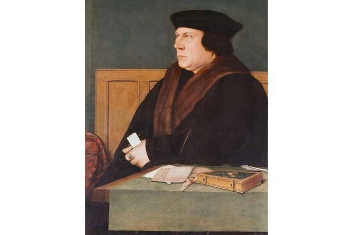 """Hans Holbein's portrait of the """"pudgy, watchful"""" Thomas Cromwell. England's aristocracy never forgave this publican's son for proving that a man could govern just became he had talent, says Diarmaid MacCulloch. (Gustavo Tomsich/CORBIS/Corbis via Getty Images)"""
