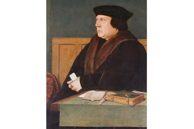 "Hans Holbein's portrait of the ""pudgy, watchful"" Thomas Cromwell. England's aristocracy never forgave this publican's son for proving that a man could govern just became he had talent, says Diarmaid MacCulloch. (Gustavo Tomsich/CORBIS/Corbis via Getty Images)"