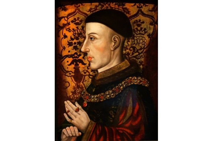 A portrait of Henry V of England. The Treaty if Troyes, signed in 1420, saw Henry named Charles's regent; by marrying the latter's daughter, Katherine, Henry secured his position as heir to the throne. (Universal History Archive/UIG via Getty Images)
