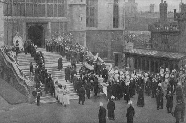 The funeral procession of Queen Victoria. (Hulton Archive/Getty Images)